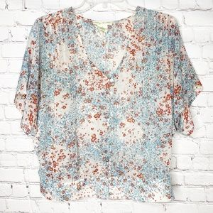Urban Outfitters Staring at Stars Floral Sheer Top